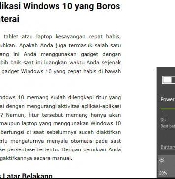 Cara Mudah Memeriksa Aplikasi Windows 10 yang Boros Baterai